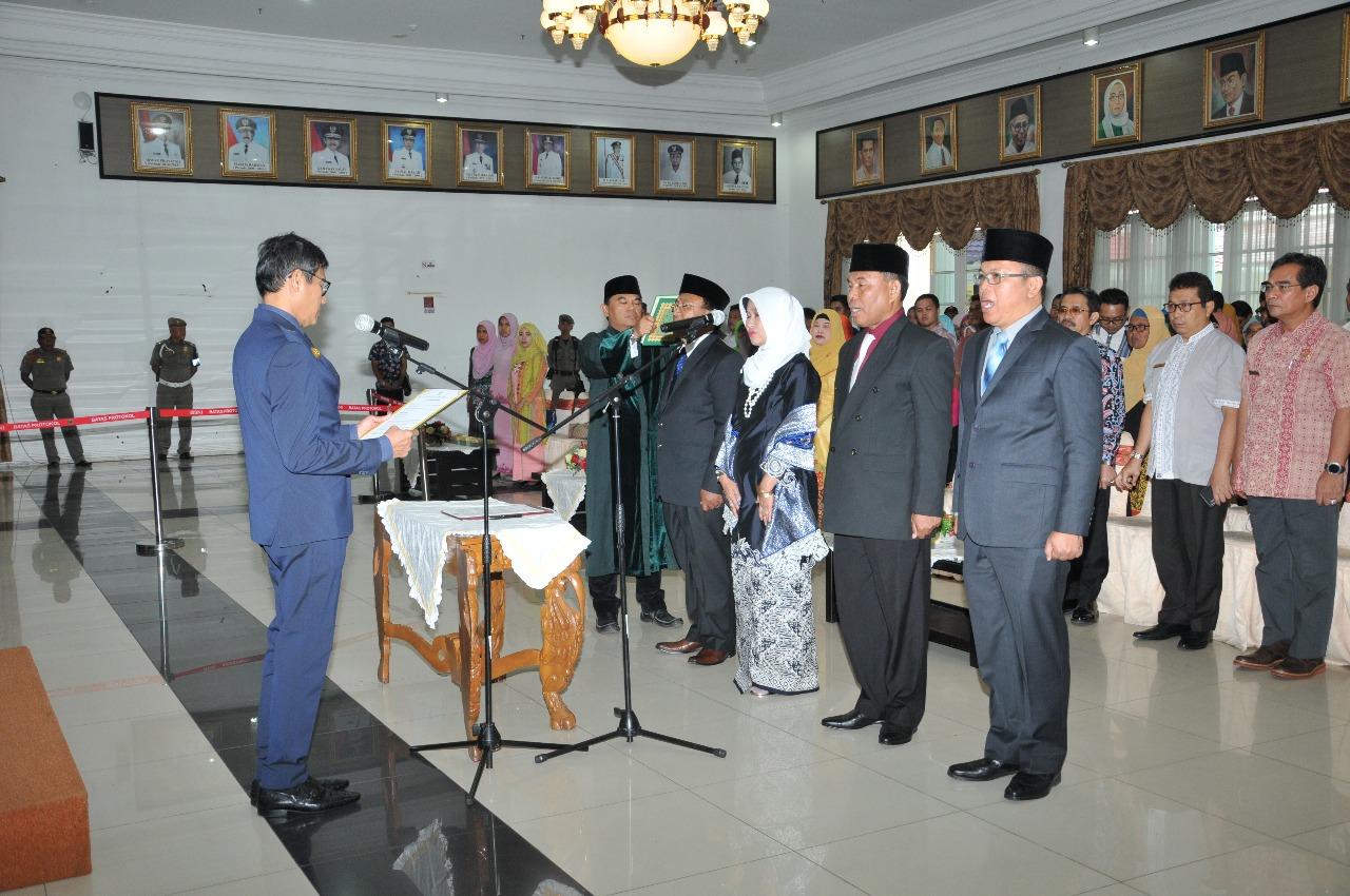 Pelantikan Kepala Badan Kepegawaian Daerah Provinsi Sumatera Barat